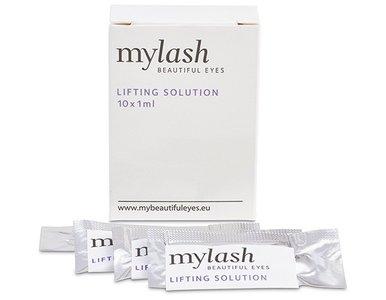 verpakking MYLASH lifting solution met enkele voorbeelden