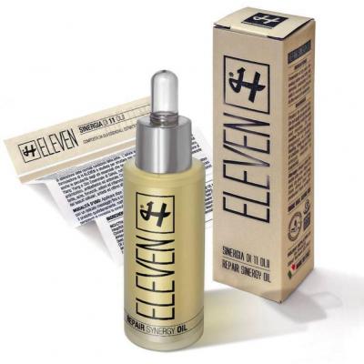 fles Holiday Eleven Repair Synergy oil met verpakking en bijsluiter