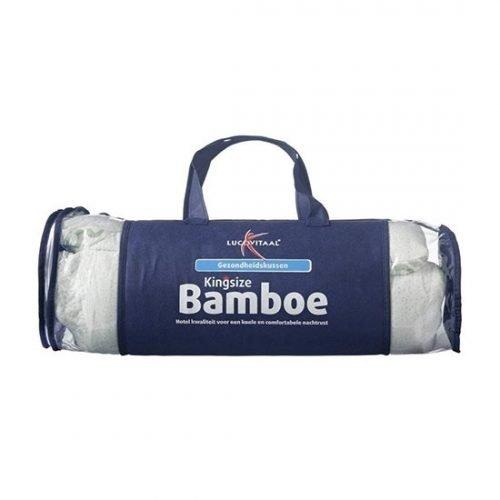 Bamboe hoofdkussen Lucovitaal in verpakking