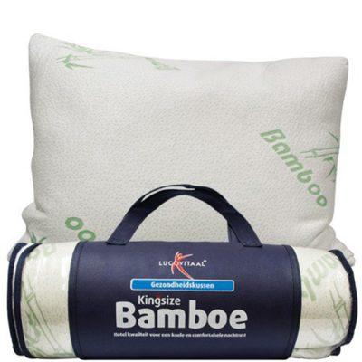 Bamboe hoofdkussen Lucovitaal met verpakking