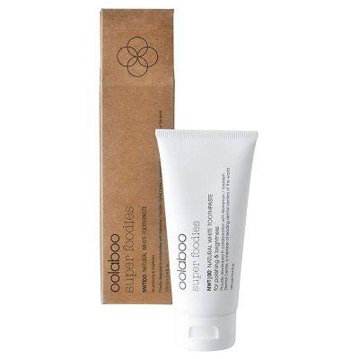 Oolaboo super foodies natural white toothpaste tube met verpakking